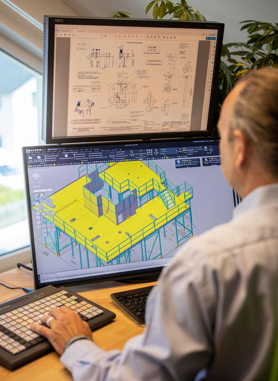 Planung für Projekte im Anlagenbau